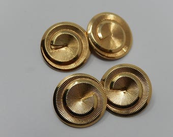 Gold plated cufflinks, free shipping