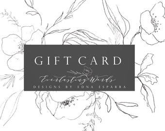 Hand Painted Bible // GIFT CARD