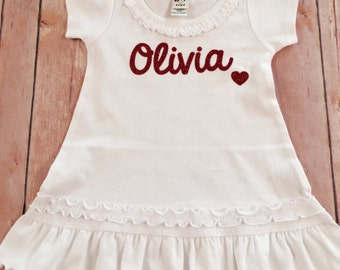 Personalized Baby Dress, Personalized Childrens Dress, Personalized Toddler Dress, Personalized Name Dress, Baby Shower Gift,Girl's Birthday