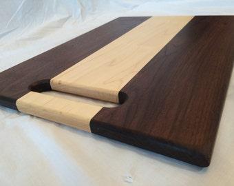 Walnut and Maple Wood Cutting Board
