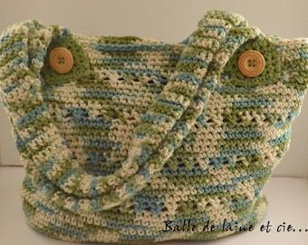 Crochet tote bag / handall bag