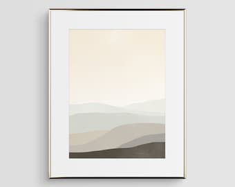 Large Abstract Art Print, Neutral Wall Art, Scandinavian Modern Art Abstract, Minimalist Art, Abstract Landscape, Beige Art, Large Wall Art