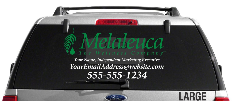 Melaleuca Dual Color Custom Vehicle Decal