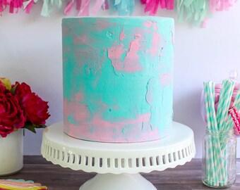 Color Cream Cake- Fake cake, prop cake, party decor
