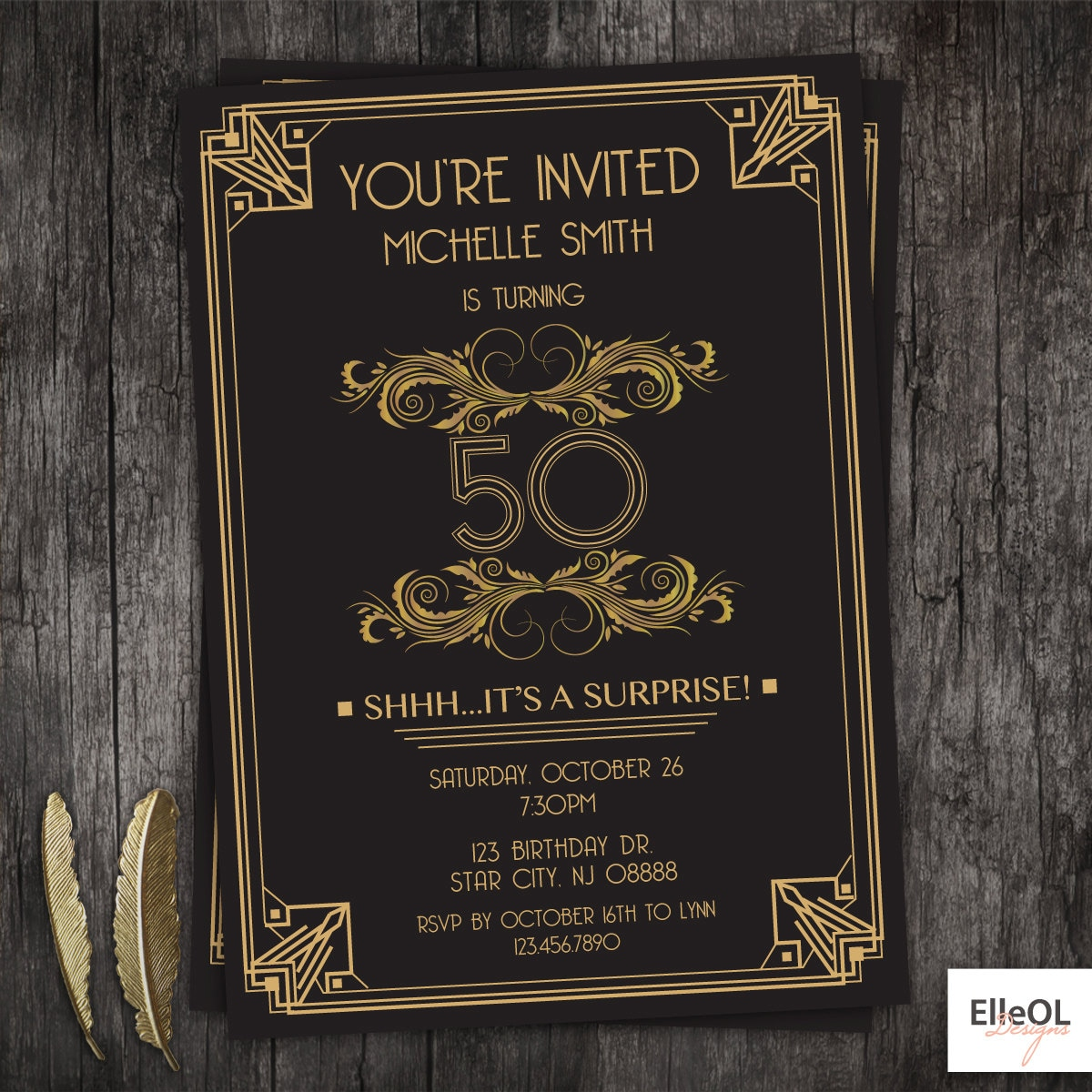 Great Gatsby Birthday Party Invitations - All The Best Invitation In ...