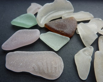 Genuine Old Beach Glass Sea Glass for Jewelry Making Glass for Mosaics