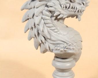 Dragon Sculpture bust DIY paintable fantasy blank