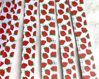 Strawberries~ Moravian German Froebel Star Paper (52 strips)