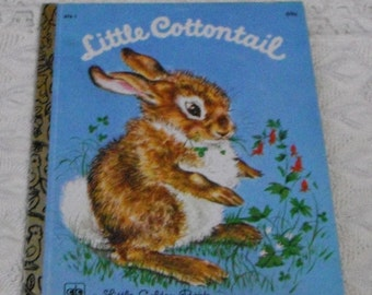 Vintage A Little Golden Book Little Cottontail  by Carl Mewling 14th Printing 1979
