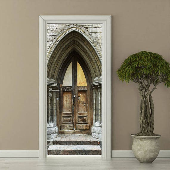 Church Door Wall Decal Church Wall Sticker Door Mural