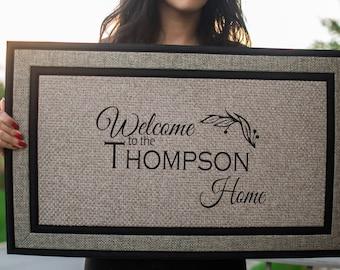 Custom Doormat, Personalized Doormat, Door mat, Personalized Door mat, Welcome Doormat, Custom Welcome Mat, Front Door Mat, Family Door Mat,