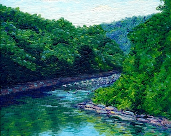 River Bend, 8 x 8 in., giclee print