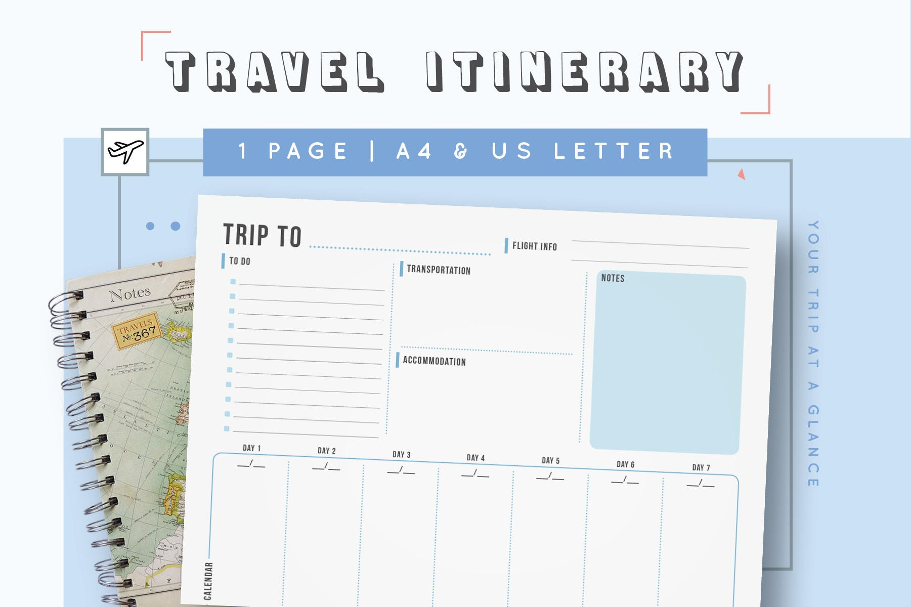 travel itinerary template family travel planner printable. Black Bedroom Furniture Sets. Home Design Ideas