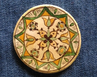 Romanian traditional motives,Romanian pottery heritage treasure,flower magnets, Fridge Magnets,Folk art painting