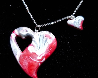 Piece Of My Heart Series - Red and Silver