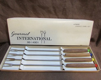 Fondue Fork Set, Gourmet International, Japan, 1970's