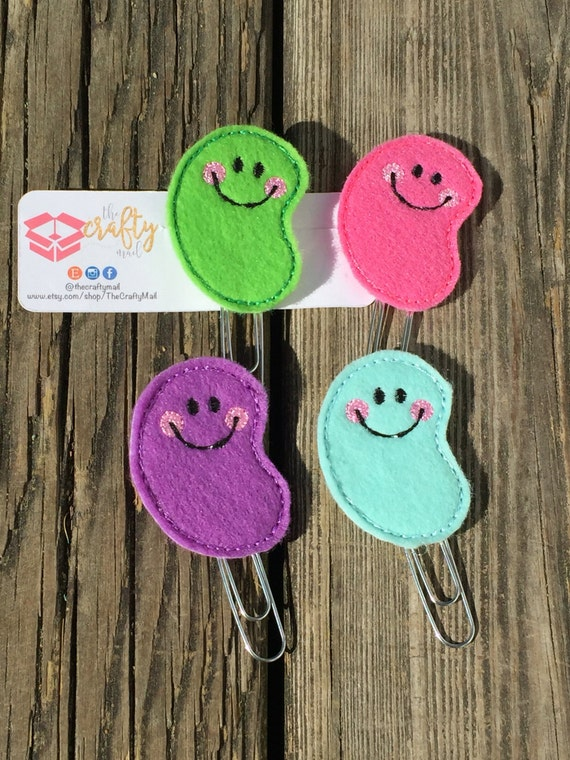Jelly Bean Clip/Planner Clip/Bookmark. Easter planner clip. Four colors to choose from