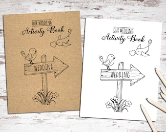 Printable Wedding Activity and Coloring Book - Instant Download - Kids Table - Sheets - Reception Activities for Kids  -Childrens guestbook
