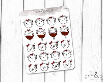 Wine Time Boos Planner Stickers (BS002)