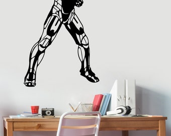Iron Man Wall Sticker Vinyl Decal Marvel Comics Superhero Art Decorations for Home Housewares Bedroom Playroom Kids Boys Room Decor irm3