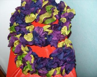 Froufrou multicolored fancy yarn scarf