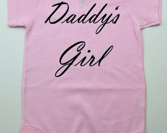 Black or Pink Onesie - Cute Baby Onesie - Daddy's Girl- Available in 6/12/18 month - Funny Baby Onesies - Pink Gift - Baby Shower - Girl