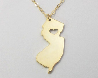 New jersey jewellery etsy more colors gold new jersey necklace aloadofball Images