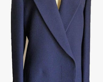 Gianni Versace Couture Jacket Vintage early 90s DB Large lapels peak Dimensional Fabric Italy