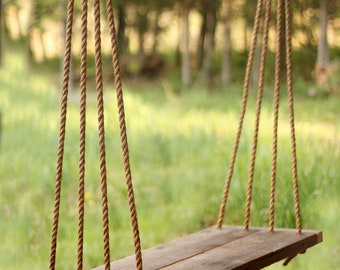 Porch Swing / Bench - Outdoor Seating - Rope Swing - Tree Swing
