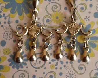 Vintage gold chandelier earrings.