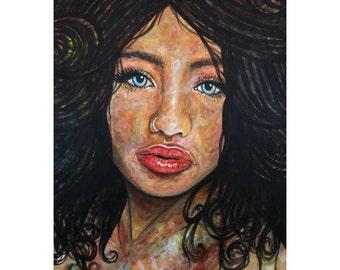 Beautiful Ambiguity - ART PRINT - 8 x 10 - By Mixed Media Artist Malinda Prudhomme