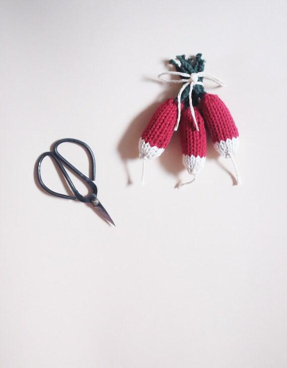 Bundle of 3 radish - radish knit toy - workshop me