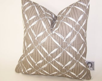 Beige Outdoor Pillow -  Tan PILLOW - Outdoor - Various Sizes - Lattice - Nautical - Seashore - Cove - Accent Pillow - 20x20,18x18,22x22