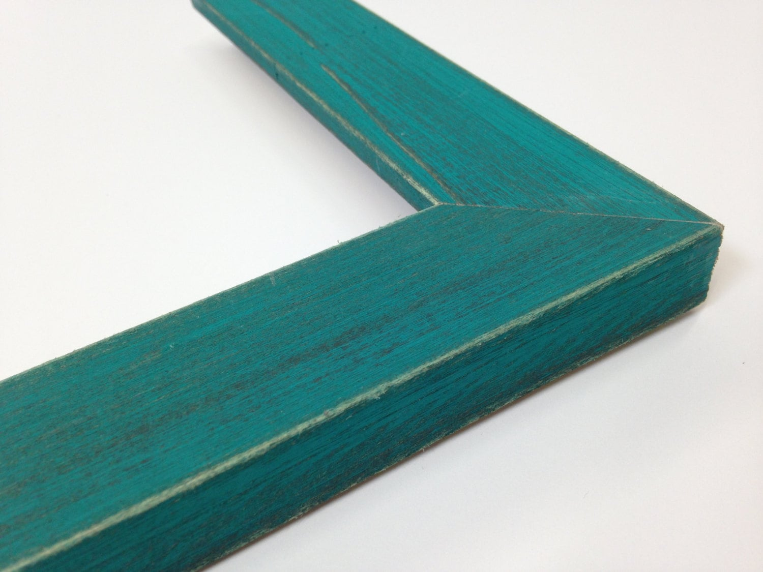TURQUOISE / TEAL Rustic Wood Picture Frame, Reclaimed Distressed ...