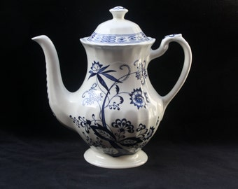 J & G Meakin | Blue Nordic | Coffee Pot | 8.75 inches | 2 pints | Excellent