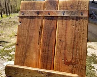 Cookbook Stand - Cookbook Holder - Wooden - Rustic - Farmhouse - Tablet Holder - Tablet Stand - Recipe Holder - Housewarming - Wedding Gift