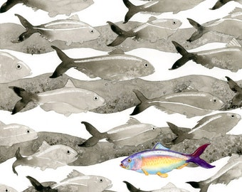 Shad Fest- Archival Print of a Watercolor Poster
