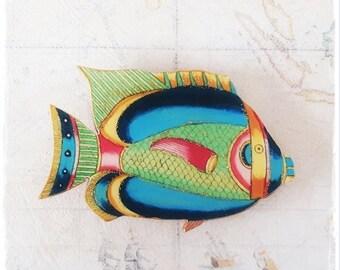 """""""fish"""" wooden fish brooch wooden brooch"""