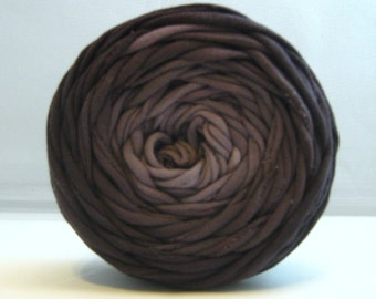 T Shirt Yarn, Hand Dyed- Black Ombre 40 Yards, T-Shirt Yarn, Tshirt Yarn