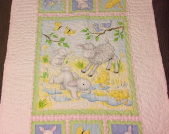 Little animal friends baby quilt