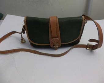 Dooney and Bourke Green All Weather Leather Crossbody Shoulder Bag Purse USA