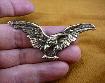 Bald eagle flying Victorian brass brooch pin pendant I love eagles B-Bird-101
