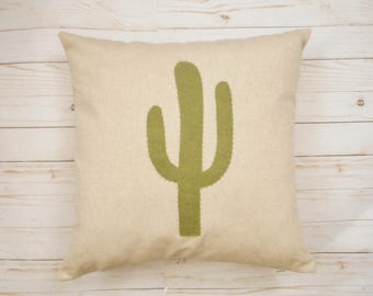 Cactus Pillow Cover, Green Cactus, Desert decor, Cactus, Southwestern Decor, Prickly cactus, Bohemian Decor, Western Pillow, Cactus Cushion