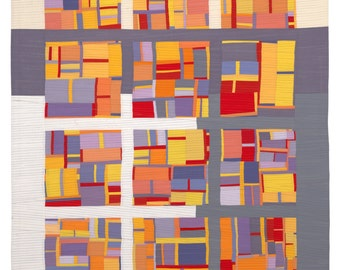"""Quilt Art, Art Quilt, Wallhanging. Motif #1. 73""""H x 51""""W. Pieced and quilted in 100% cotton, hanging sleeve."""
