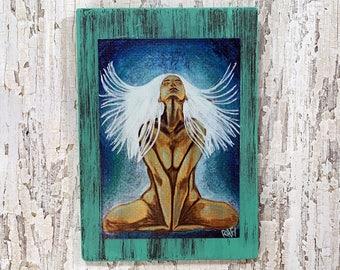 Metamorphosis Light Wall Art by artist Rafi Perez Original Artist Enhanced Print On Wood