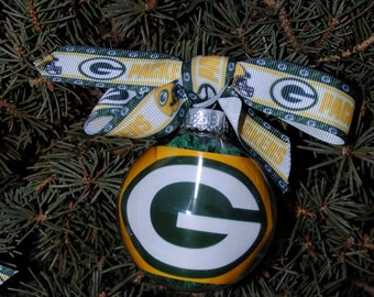 Green Bay Packers Glass Ornaments