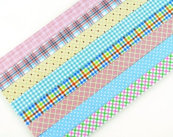 Checker And Dots Origami Lucky Star Paper Strips Star Folding DIY - Pack of 130 Strips