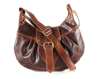 Leather Cross Body Messenger Handbag Purse
