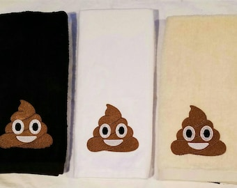 Poop Bathroom Hand Towel