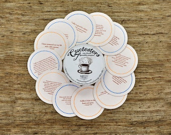 Coffee Quotesters - quotable coasters featuring quotes about coffee